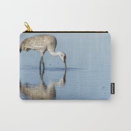 Sandhill Crane and Reflection Carry-All Pouch