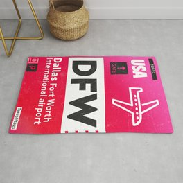 DFW RED Rug