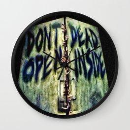 Walking Dead Dont Open Wall Clock