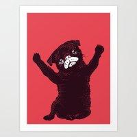 hug Art Prints featuring Hug by Huebucket