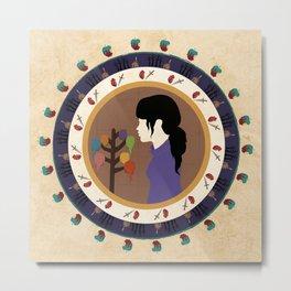 Circle Stories - Snowwhite Metal Print