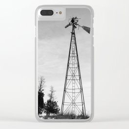 Twisted Windmill Clear iPhone Case