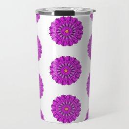 Lovely Pink Chrysanthemums Floral Pattern Travel Mug