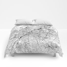 Brussels White Map Comforters