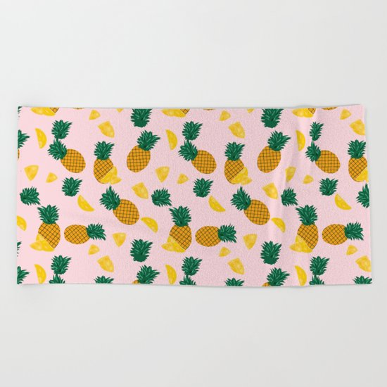 Pineapple Pattern Beach Towel