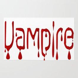 Vampire Blood Text Rug