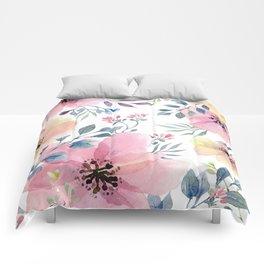 flower watercolor 1 Comforters