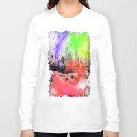 skyline Long Sleeve T-shirts featuring Skyline by Fine2art