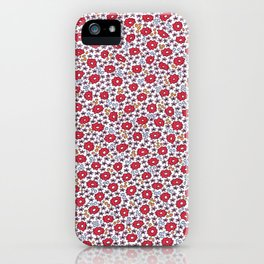 Ditsy Flora Red iPhone Case