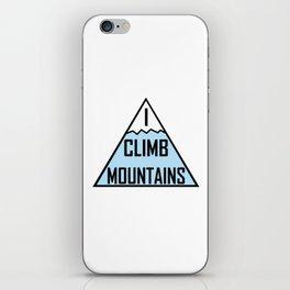 I Climb Mountains Blue iPhone Skin