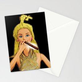 Cigar Smoker! Funny Cigar Smoking Pop Art! Stationery Cards