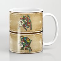 mexican Mugs featuring mexican warriors by laika in cosmos