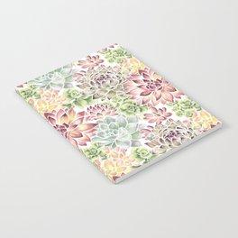 Bright Watercolor Succulents Notebook