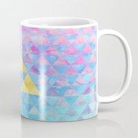 zelda Mugs featuring Zelda Geometry by enthousiasme