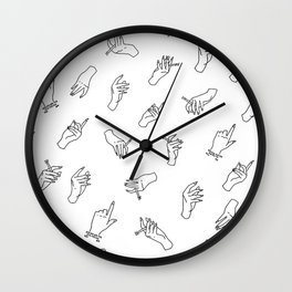 Come in Handy Wall Clock