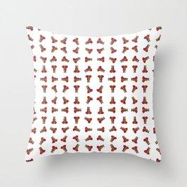 Rainbow Ganesha Pattern (White) Throw Pillow