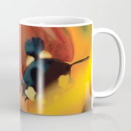 Ladybird, macro photography, still life, fine art, nature photo, romantic wall print Coffee Mug