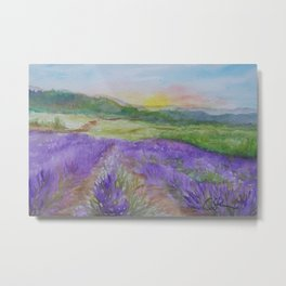 An Evening in Provence WC150601-12 Metal Print