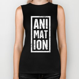 Distressed ANIMATION Text | Design For Animators Biker Tank