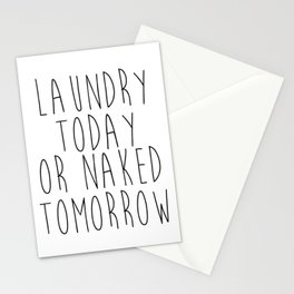 Printable Art Laundry Today Or Naked Tomorrow Sign Laundry Room Print, Print Funny, Black and White Stationery Cards