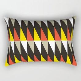 Geometric Pattern #187 (harlequin red yellow) Rectangular Pillow