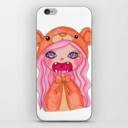 kawaii bear doll iPhone Skin