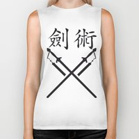 sword Biker Tanks featuring China Sword by Littlebell