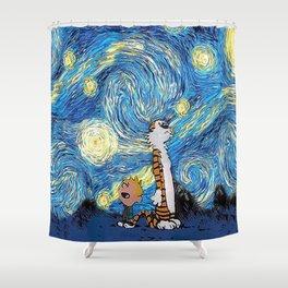 Calvin Hobbes Shower Curtain