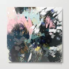 Watercolor abstraction. Flying butterfly Metal Print