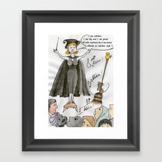 The white ego Framed Art Print