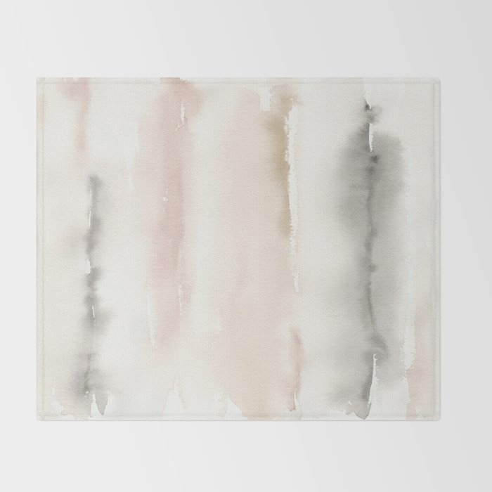 Origin Neutral Watercolor Wash Throw Blanket