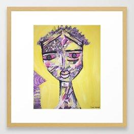 Blissful yellow days Framed Art Print