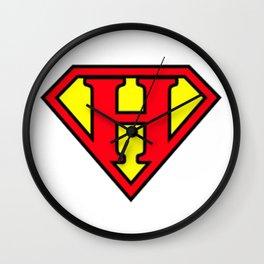 Super H - Initials Wall Clock