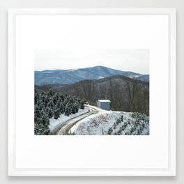 Road to the Christmas Tree Farm Framed Art Print