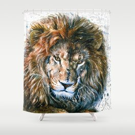 Lion Wild and Free Shower Curtain