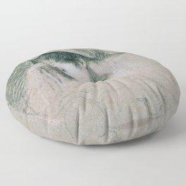 John Singleton Copley - Study for the Head of the Virgin (in the Nativity) Floor Pillow