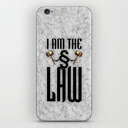 I am the law / 3D render of section sign holding judges gavels iPhone Skin