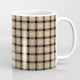 Small Tan Brown Weave Coffee Mug
