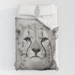 Cheetah - Black & White Comforters