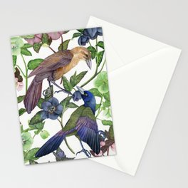 Grackes & Lenten Roses Stationery Cards