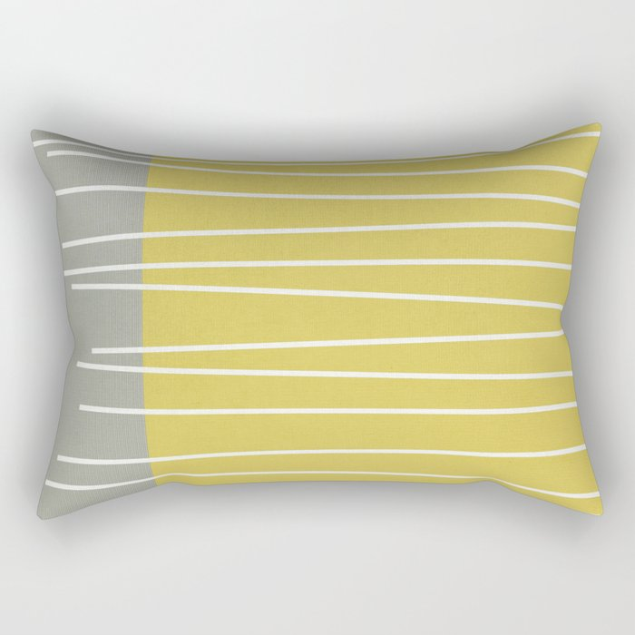 MId century modern textured stripes Rectangular Pillow by michelledrew Society6