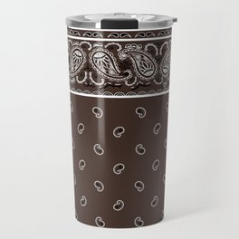 Classic Coffee Brown Bandana Travel Mug