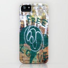 Free Love iPhone Case