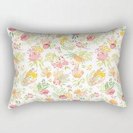 Bright Summer Garden Rectangular Pillow