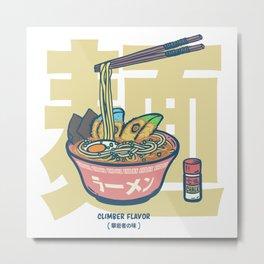 Climbing   Climber Flavor Ramen Noodle Metal Print
