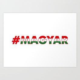 # Hashtag Magyar Art Print
