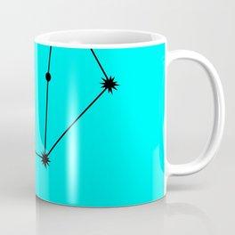 LIBRA (BLACK-CYAN STAR SIGN) Coffee Mug