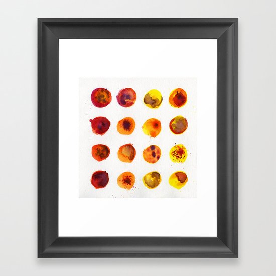 Sherbert Dot Framed Art Print