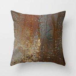 Burnt Metal Throw Pillow