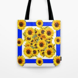 CLASSIC WHITE & BLUE SUNFLOWERS ART Tote Bag